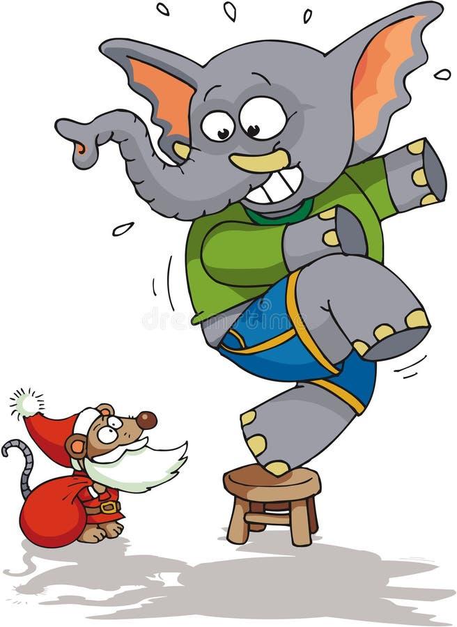 Rato Santa ilustração royalty free