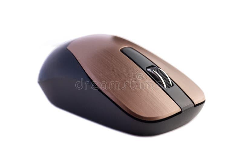 Rato sem fio do computador isolado no fundo branco imagem de stock royalty free