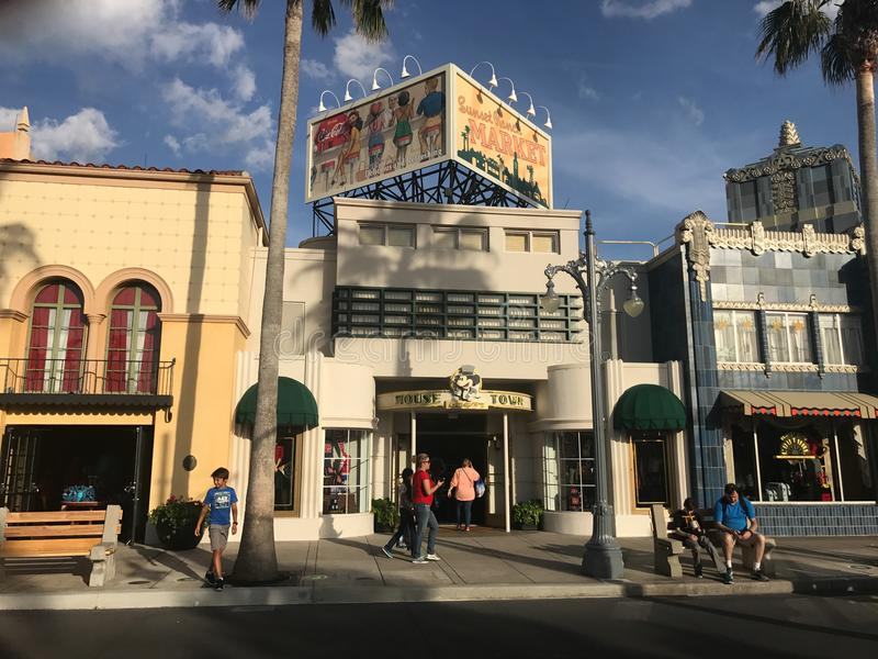 Rato sobre a cidade, estúdios de Hollywood imagem de stock royalty free