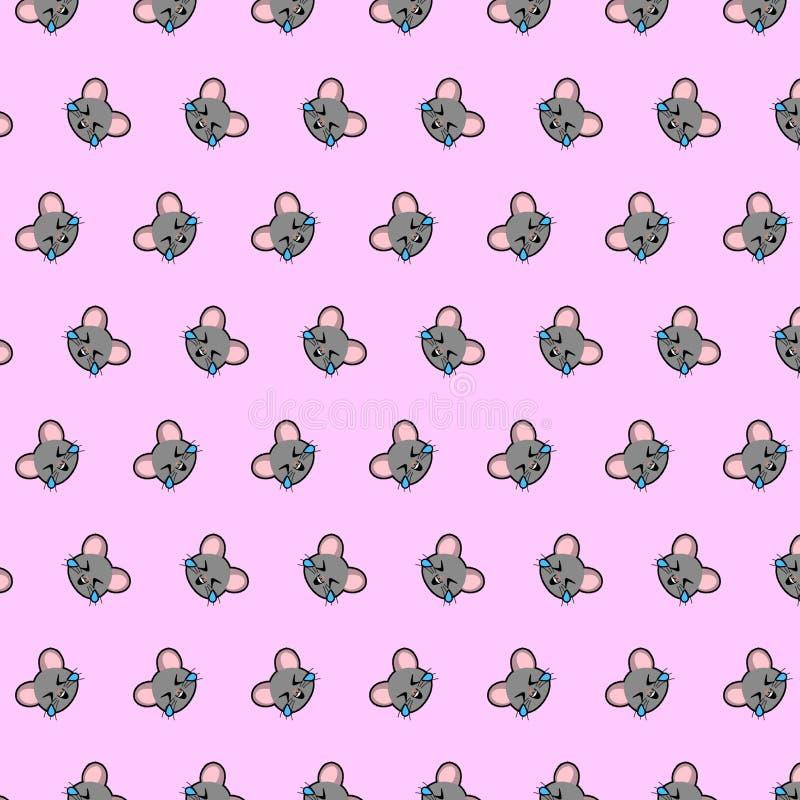Rato - teste padrão 04 do emoji ilustração do vetor