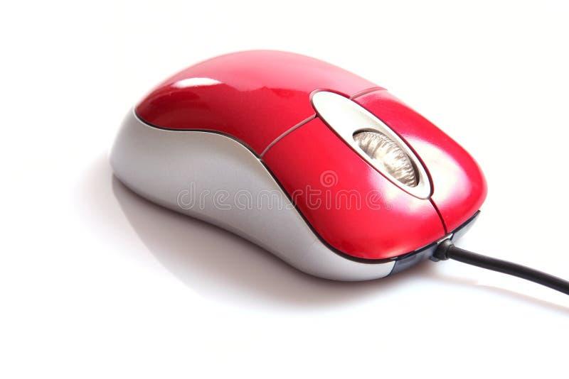 Rato vermelho do computador imagens de stock
