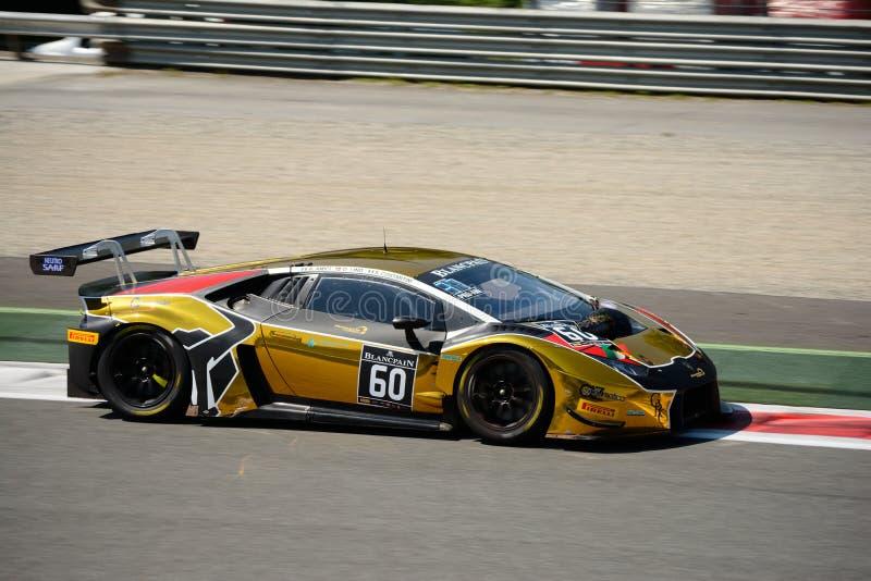 Raton Lamborghini que compite con Huracan GT3 en Monza foto de archivo
