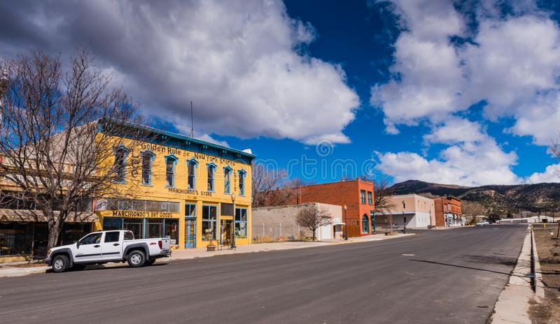 Marchiondos Store - Raton, NM. Raton, New Mexico / USA / April 1, 2016: Marchiondo`s Store, built ca 1882, is a contributing building to the US National Register royalty free stock image