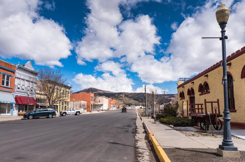 Quiet Western Town. Raton, New Mexico / USA / April 1, 2016: Quiet Western town of Raton NM is a railroad stop on Amtrak Southwest Chief route stock photo