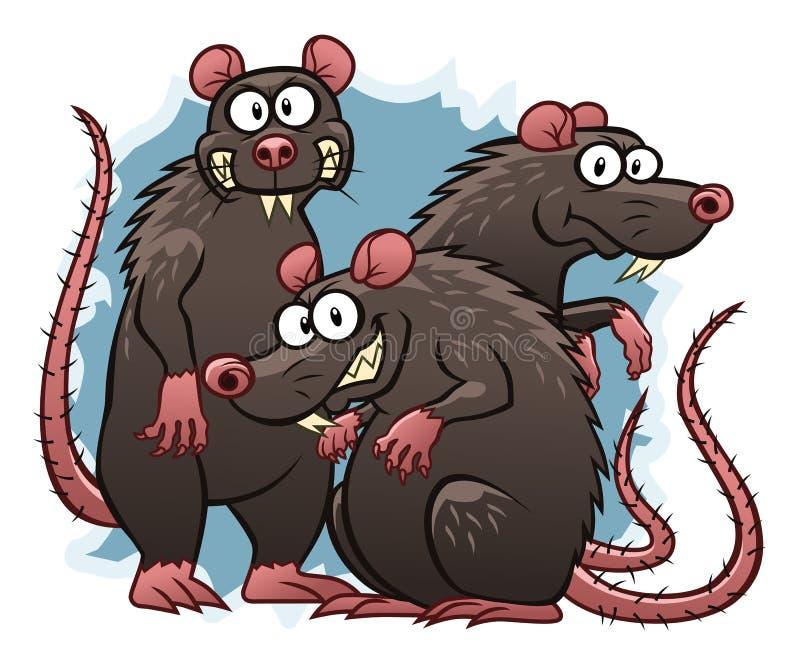 ratos ilustração do vetor