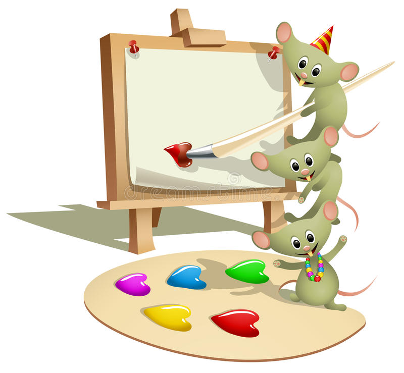 Ratos engraçados que ensinam como pintar