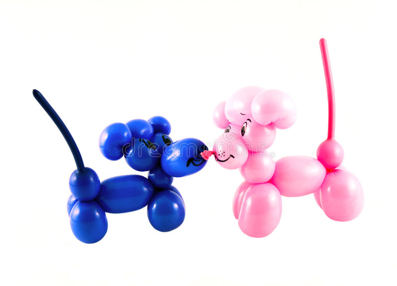 Ratos feitos dos balões imagem de stock