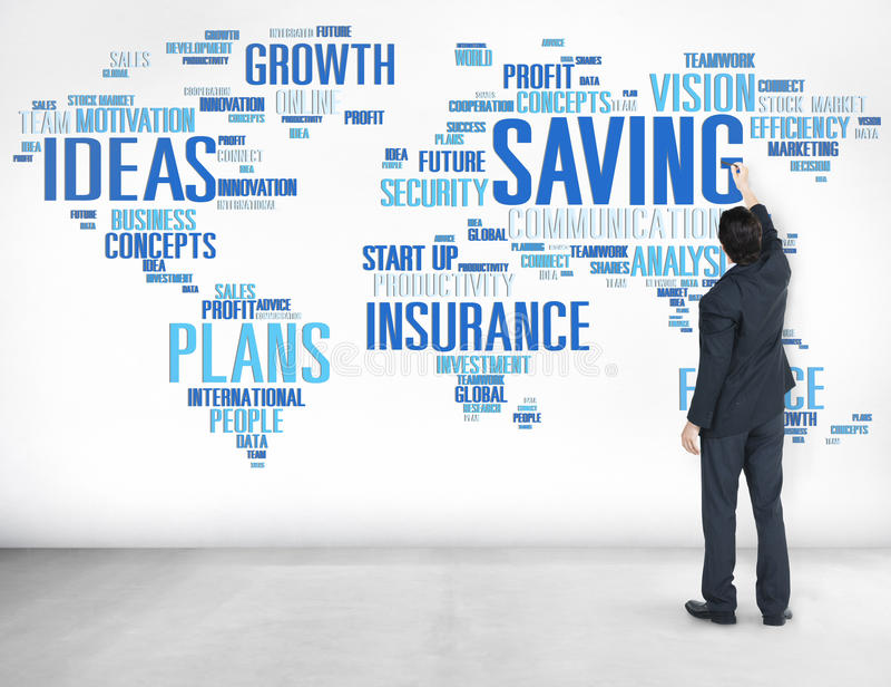 Ratować Finansowego Globalnego Finansowego gospodarki światowa pojęcie zdjęcie stock