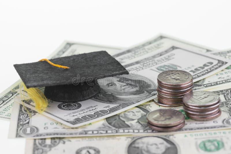 Ratować każdy pojedynczego cent dla wykształcenia wyższe i dolara zdjęcia royalty free