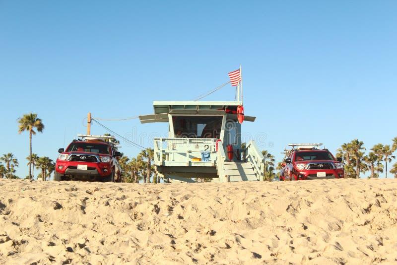 Ratownicy przy plażą fotografia stock