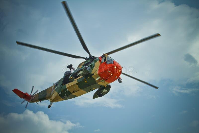 Ratowniczy Seaking belgijski helikopter obraz royalty free