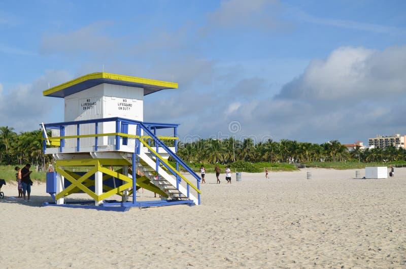 Ratowniczy wierza, Miami plaża obrazy royalty free
