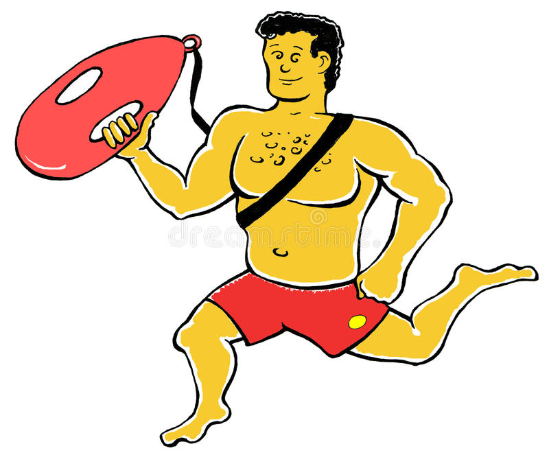 ratownik ilustracja wektor