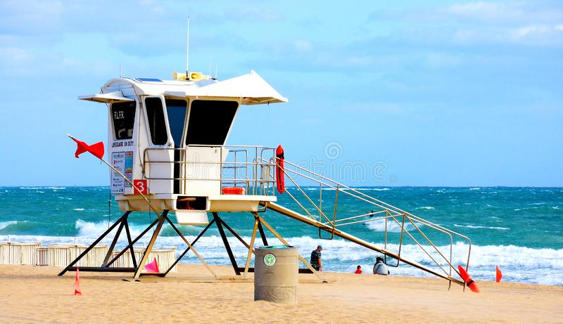 Ratownik kabina przy fort lauderdale, FL zdjęcie stock