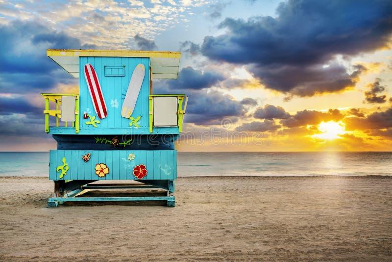 Ratownika wierza, Miami plaża, Floryda zdjęcie royalty free