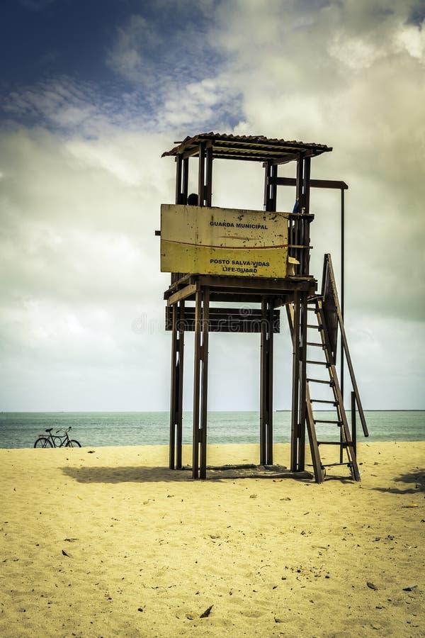 Ratownika wierza w Fortaleza, Brazylia zdjęcia stock