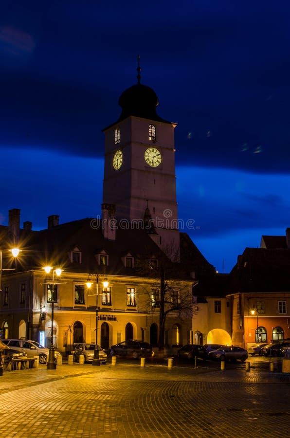 Rats-Turm von Sibiu stockfotografie