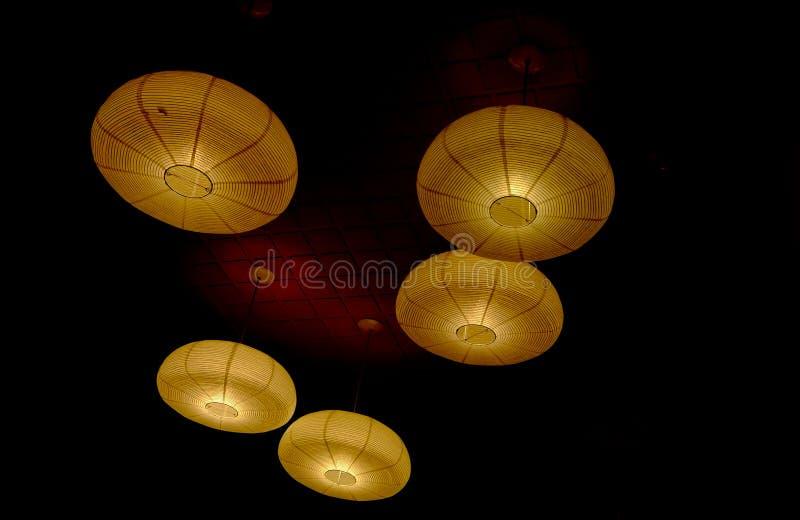 Rattan anging lampiony od Azja zdjęcie royalty free