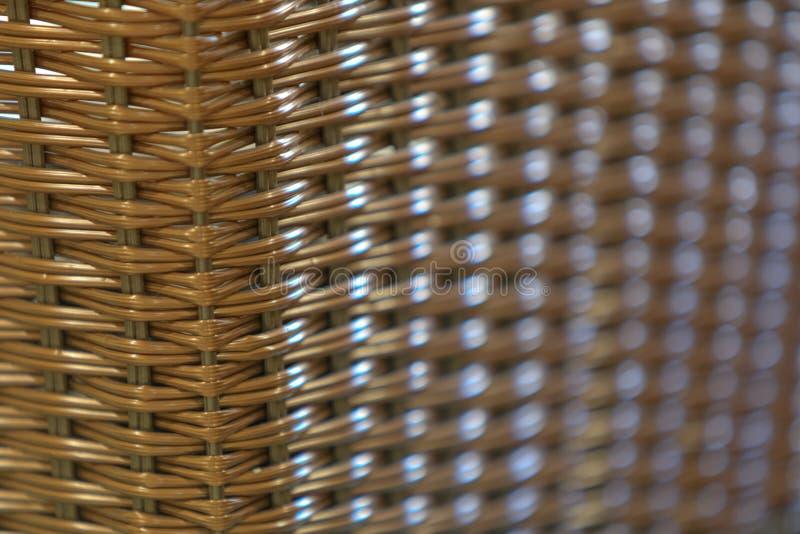 Rattan/aus Weiden geflochtenes nahtloses Muster, Hintergrund, mit shallo lizenzfreies stockfoto