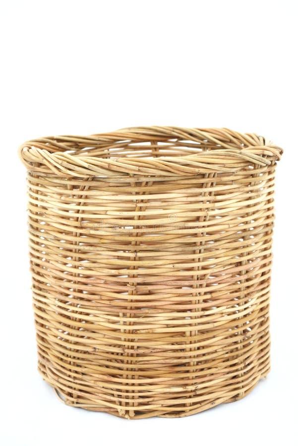 Free Rattan Basket On Isolated White Stock Photos - 42311863