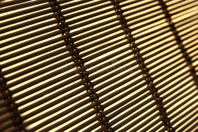 Rattan blind stock photos