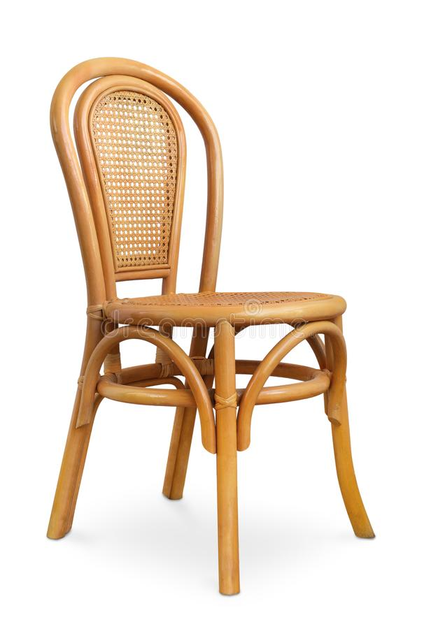 Rattan chair. Isolated on white stock photos