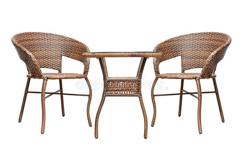 Rattan Coffee Table Set Stock Photo Image Of Exotic