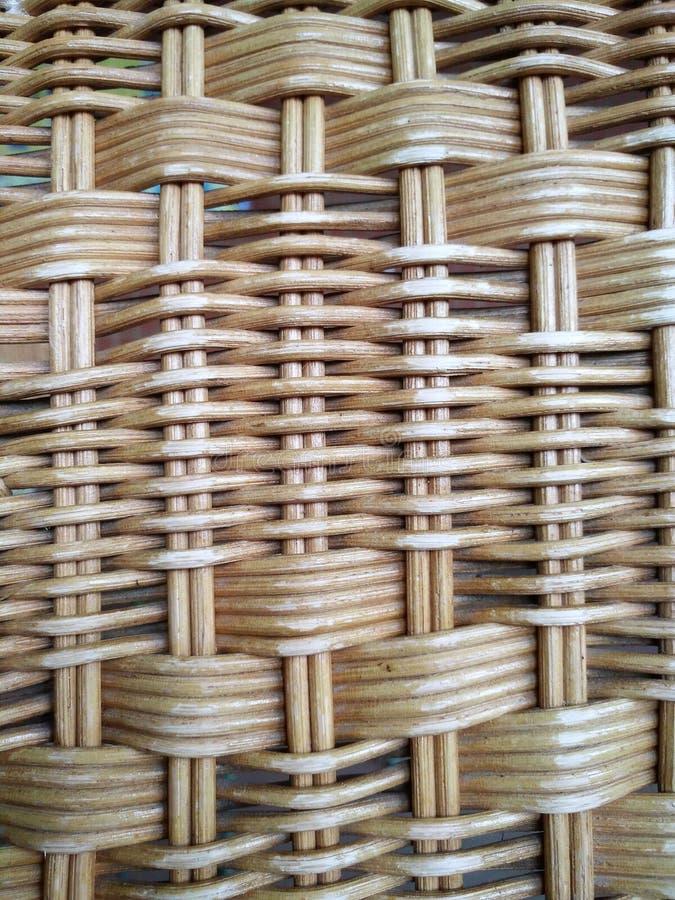 Rattan feito da madeira, tocando na superfície do rattan do tendão, fotografia de stock royalty free