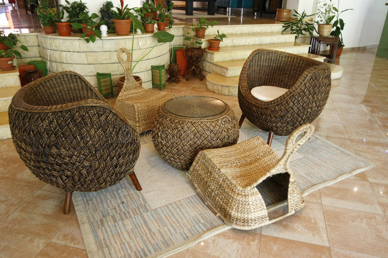 Download Rattan furniture stock photo. Image of home, club, floor - 10238770