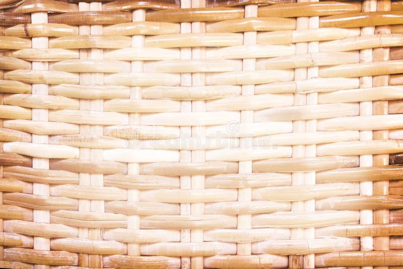 Rattan gesponnene Beschaffenheit, Naturholz macht Hintergrund in Handarbeit stockbild