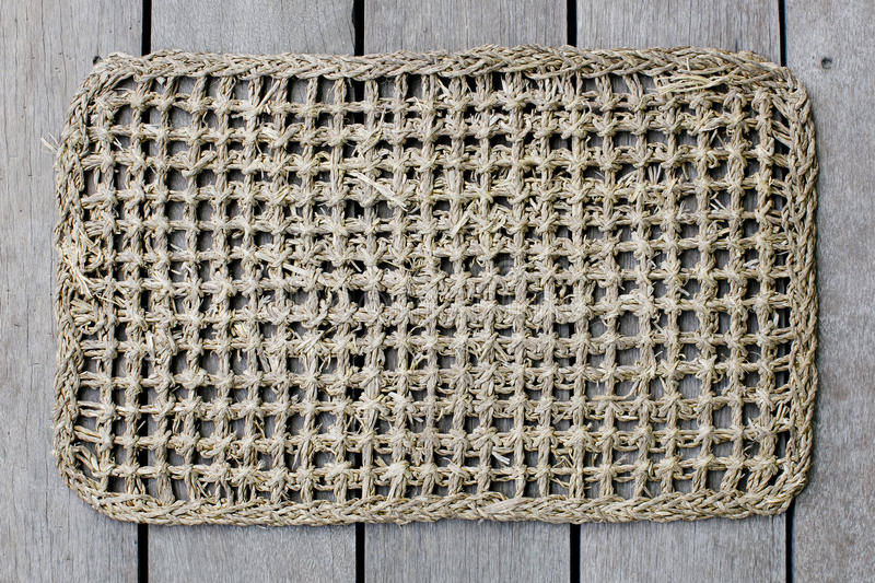 Rattan mat background texture. royalty free stock image