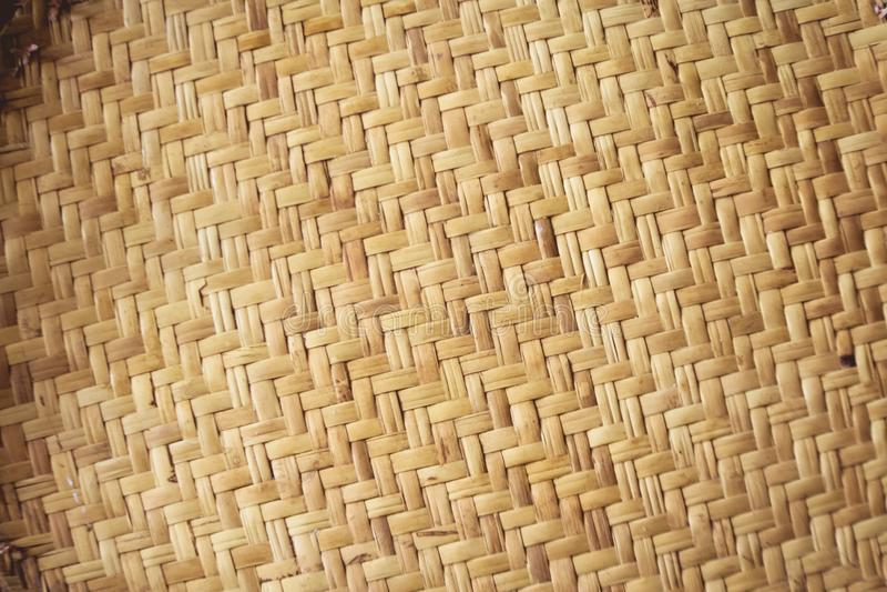 Rattan matting background stock photography