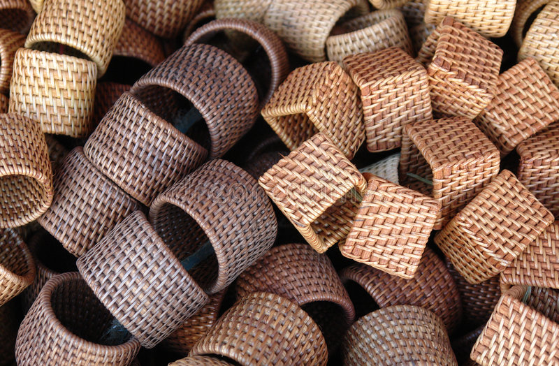 Download Rattan Ring stock photo. Image of ware, cylinder, napkin - 1413966