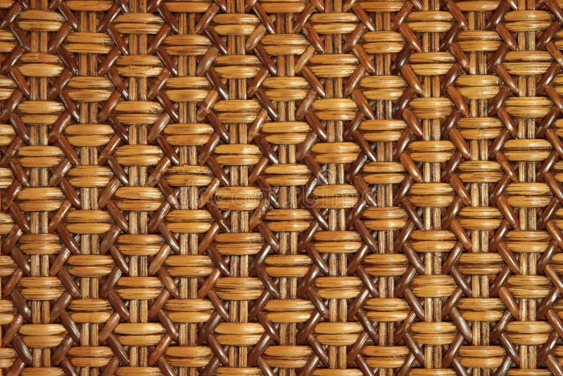 Rattan tecido com testes padrões naturais imagens de stock royalty free