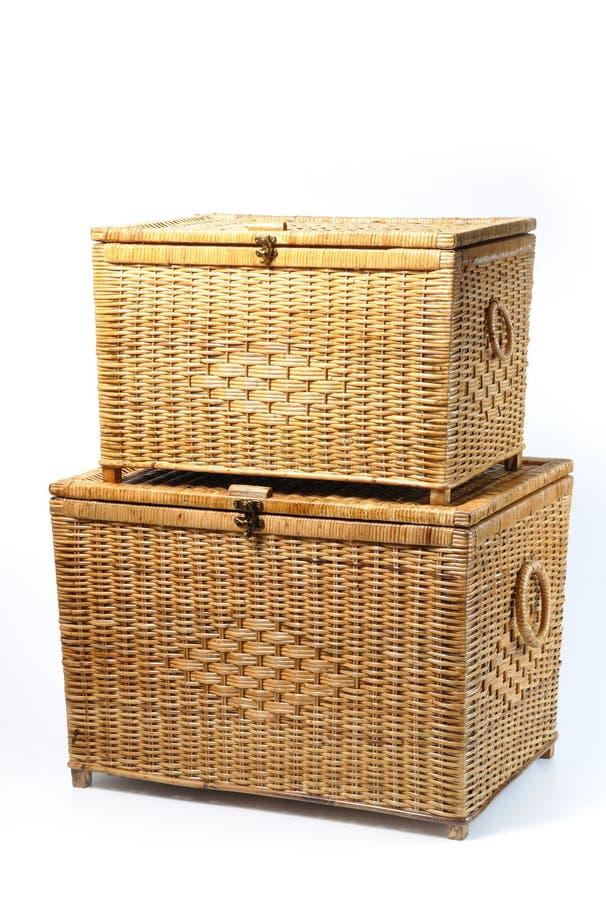 Free Rattan Trunk Box Royalty Free Stock Image - 25010696