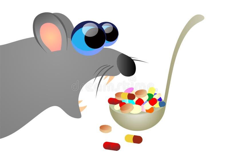 Ratte, die Gift isst vektor abbildung