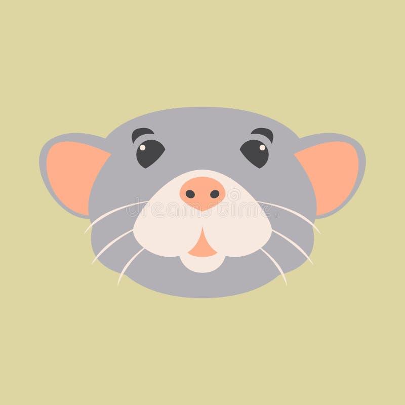 Rattenhauptgesichts-Vektorillustration vektor abbildung
