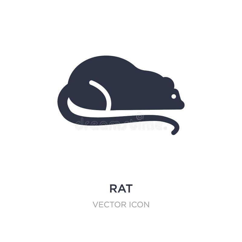 rattenpictogram op witte achtergrond Eenvoudige elementenillustratie van Dierenconcept vector illustratie