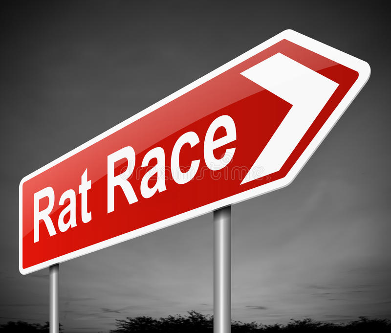 Rattenrennkonzept. vektor abbildung