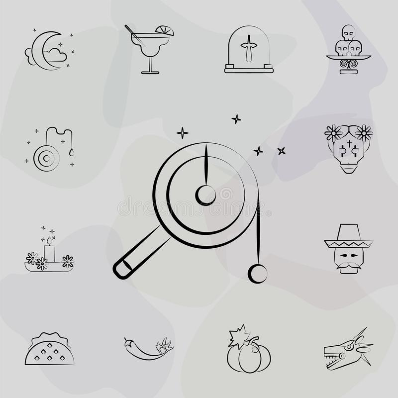 Rattle drum icon. Dia de muertos icons universal set for web and mobile stock illustration