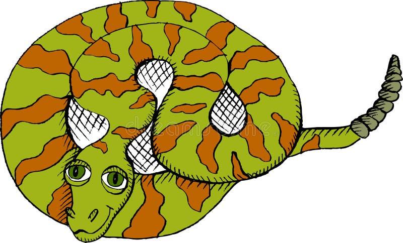 Download Rattlesnake stock vector. Image of snake, animal, drawing - 23217029