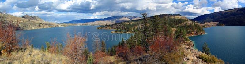 Fall Colors at Rattlesnake Point jutting into Kalamalka Lake, Okanagan Valley, British Columbia, Canada royalty free stock photos