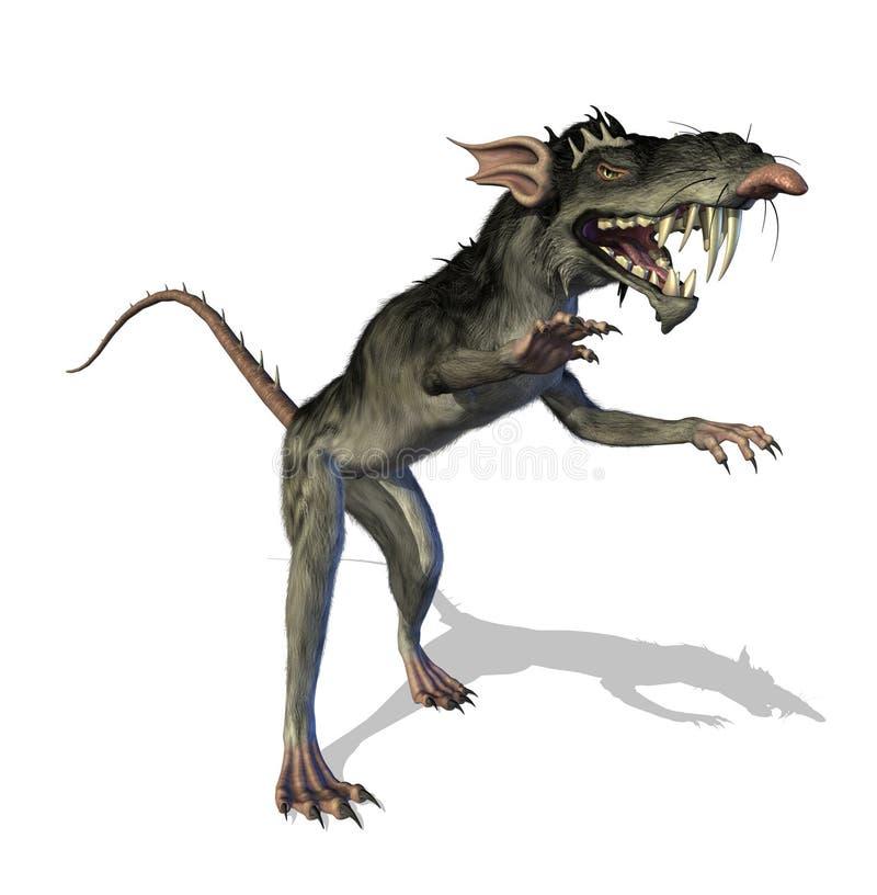Ratto Demonic del mutante illustrazione vettoriale