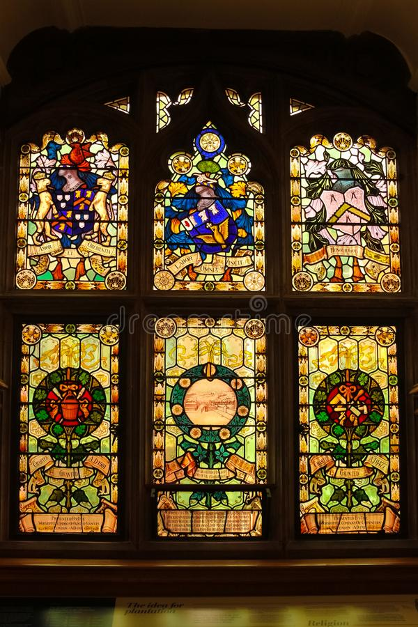 ratusz okulary pobrudzeni okno Derry Londonderry Północny - Ireland zjednoczone królestwo obraz stock