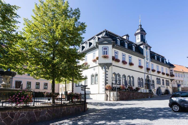 Ratusz w Ilmenau w Turyngii zdjęcie stock
