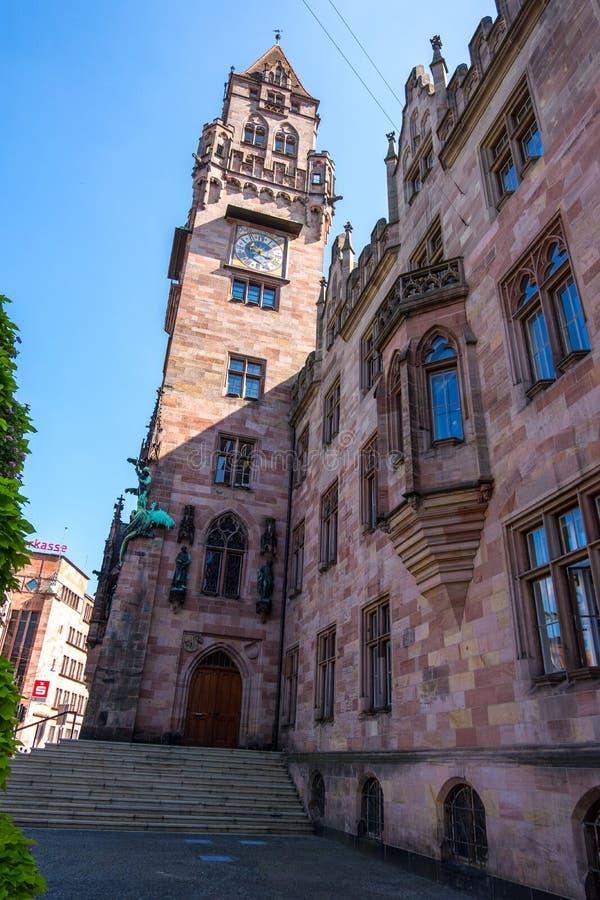 Ratusz w Rathaus w Saarbrucken, Saarland, Niemcy fotografia stock