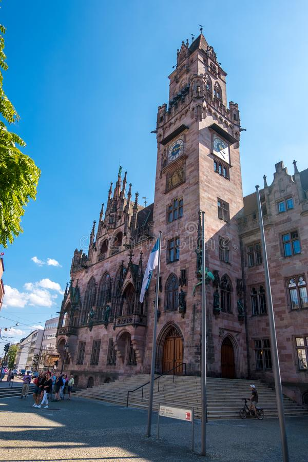 Ratusz w Rathaus w Saarbrucken, Saarland, Niemcy obraz stock