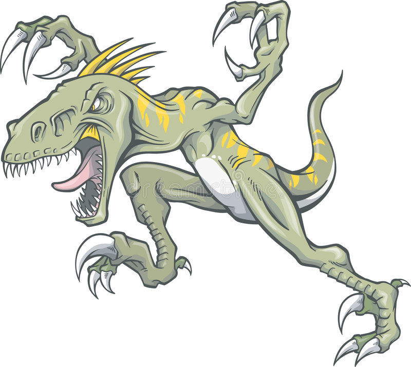 Raubvogel-Dinosaurier-Abbildung stock abbildung