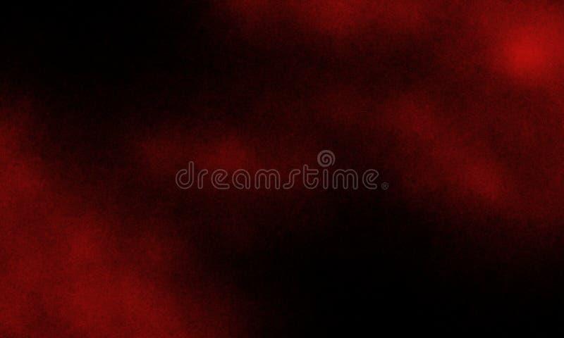 Rauch auf dem Boden Isolierter schwarzer Hintergrund Abstrakter Nebel aus rotem Rauch auf schwarzem Hintergrund stockfoto