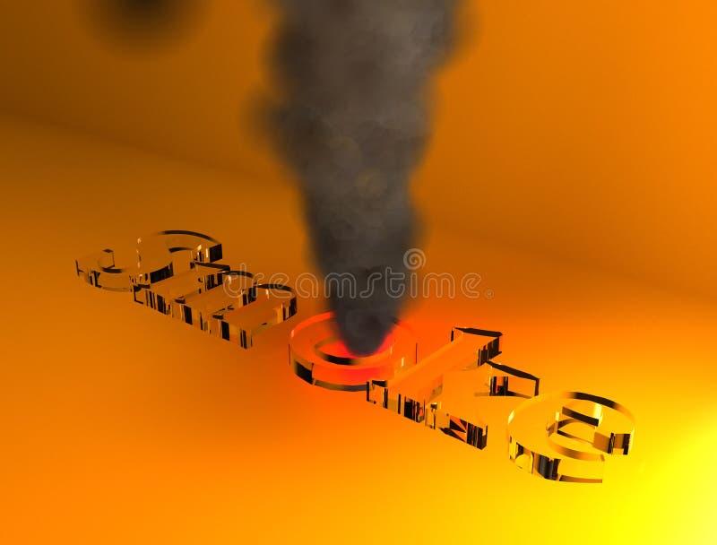 Rauch 3D stockbilder
